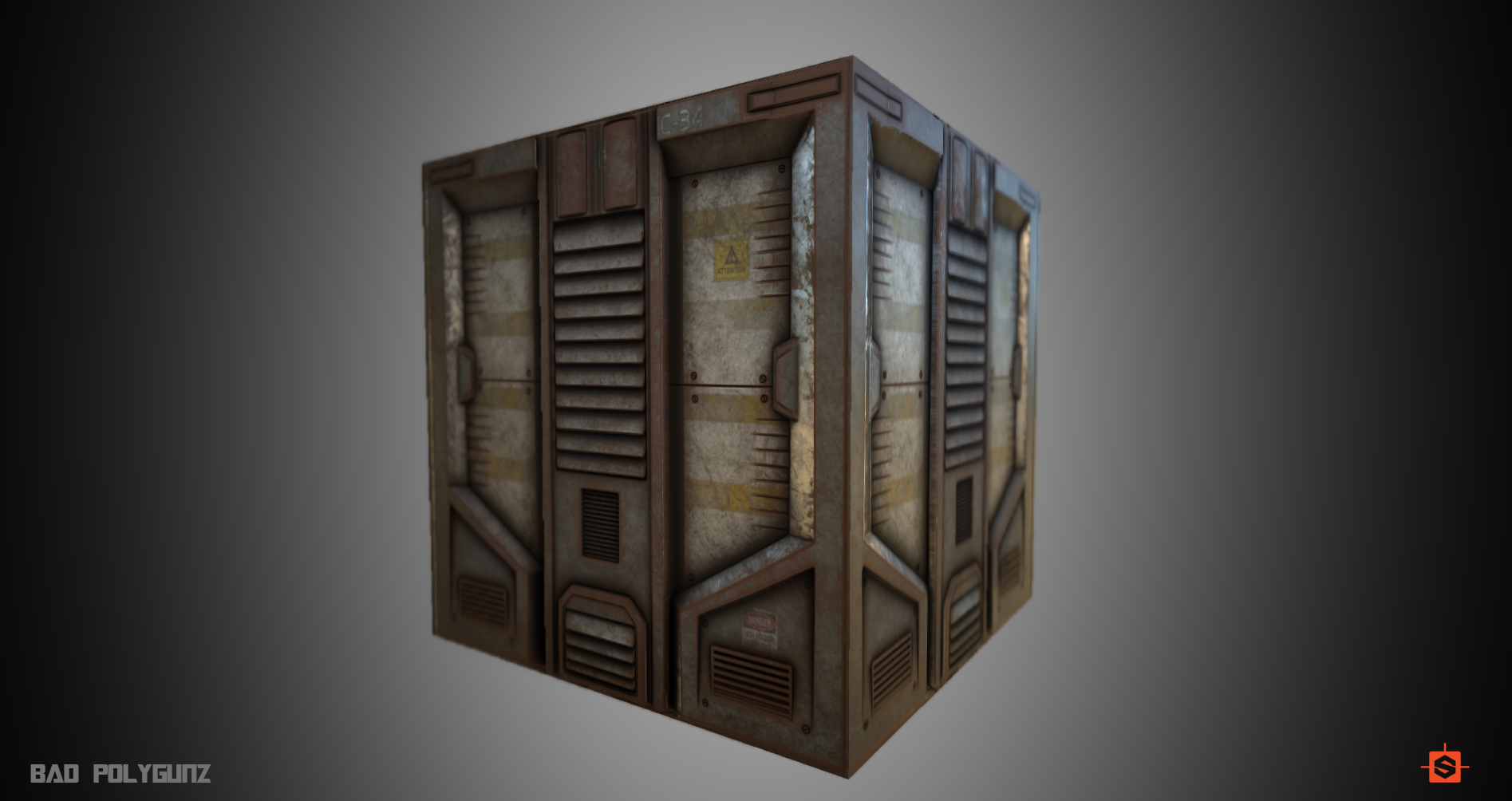 Sci-fi door Fully procedural